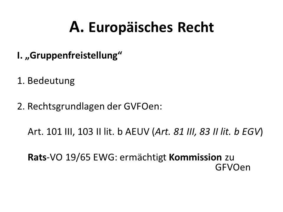 A. Europäisches Recht