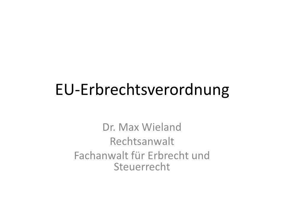 EU-Erbrechtsverordnung