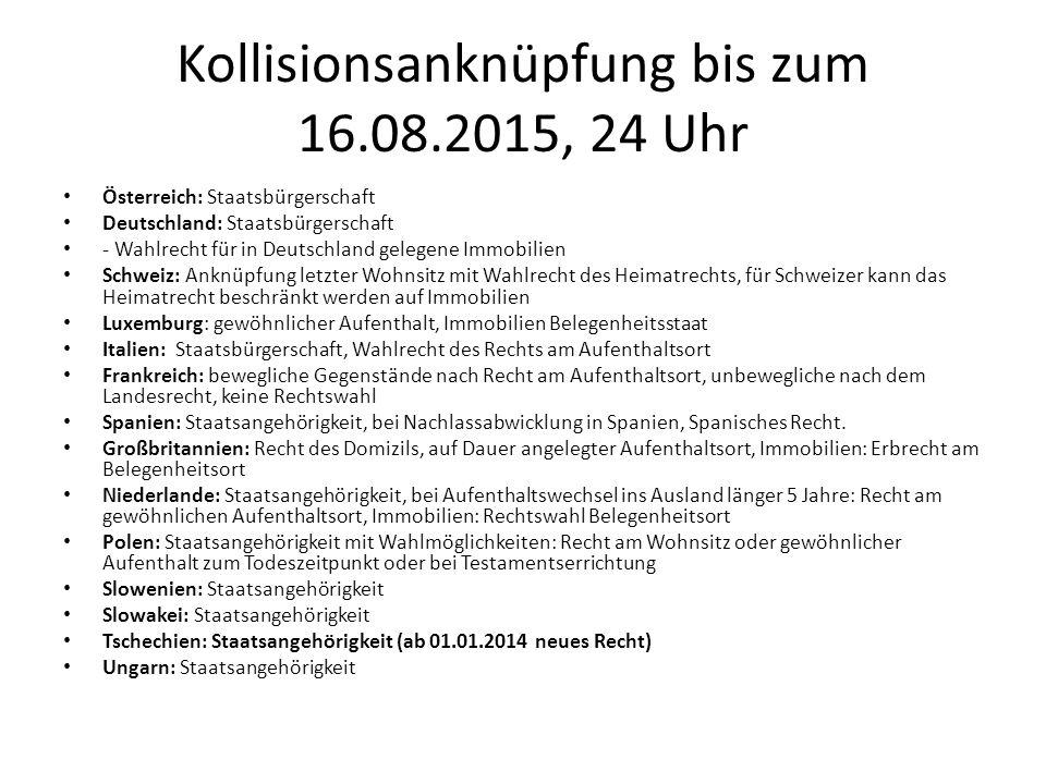 Kollisionsanknüpfung bis zum 16.08.2015, 24 Uhr