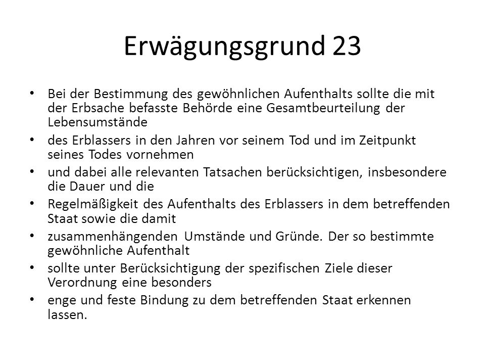 Erwägungsgrund 23