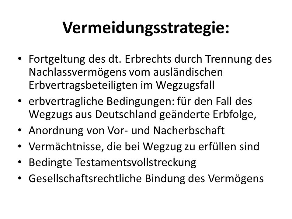 Vermeidungsstrategie: