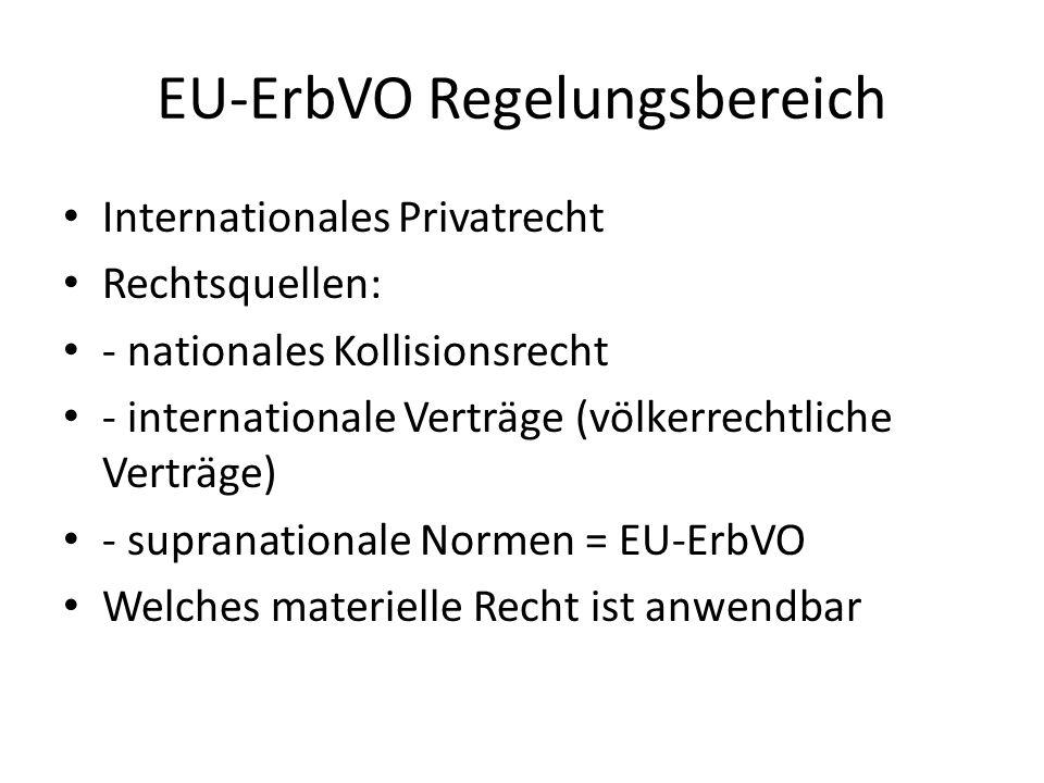 EU-ErbVO Regelungsbereich