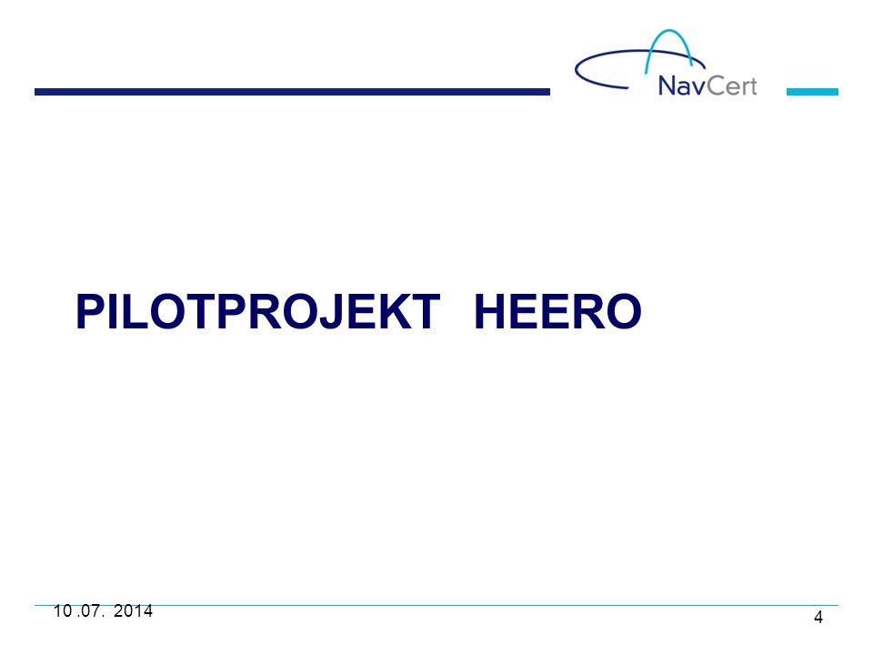 PilotProjekt HeERO 10 .07. 2014