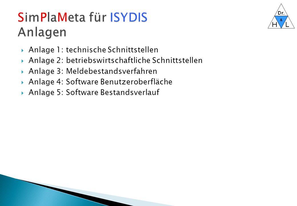 SimPlaMeta für ISYDIS Anlagen