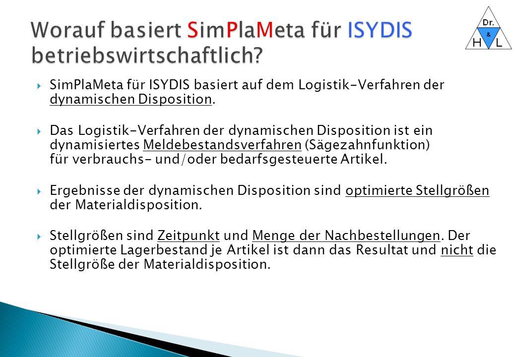 Worauf basiert SimPlaMeta für ISYDIS betriebswirtschaftlich