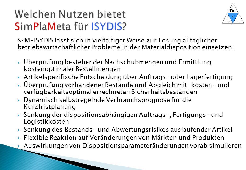 Welchen Nutzen bietet SimPlaMeta für ISYDIS
