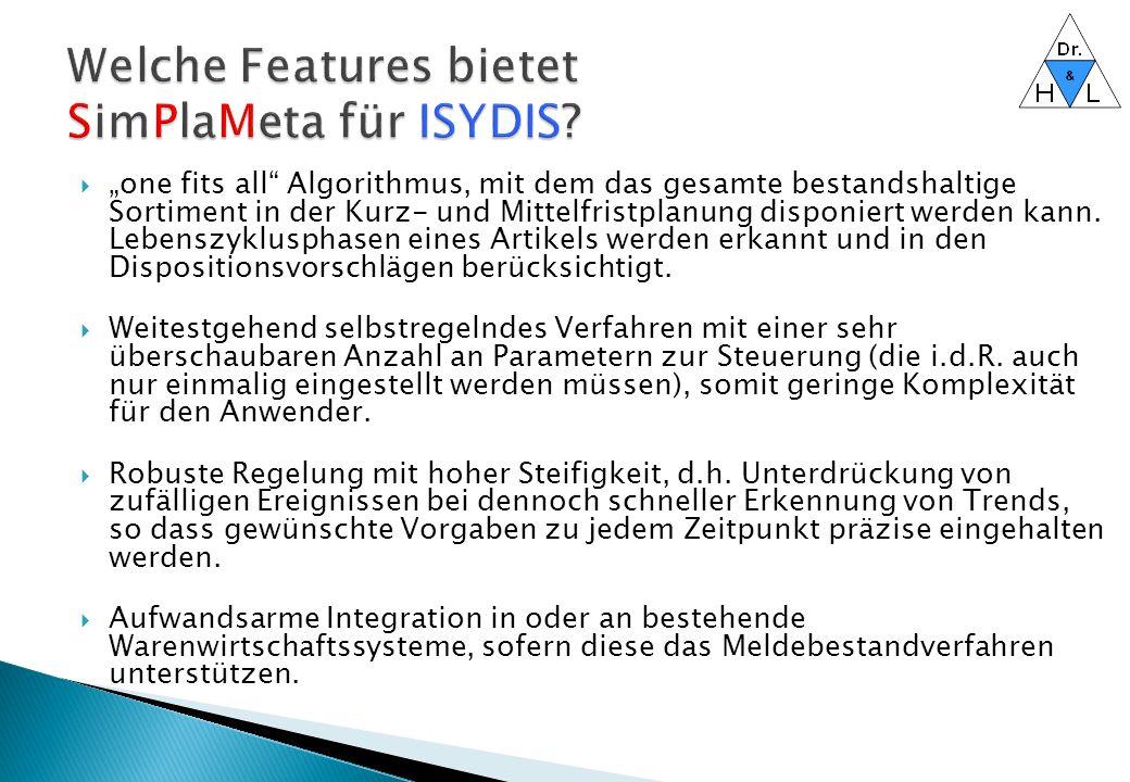 Welche Features bietet SimPlaMeta für ISYDIS