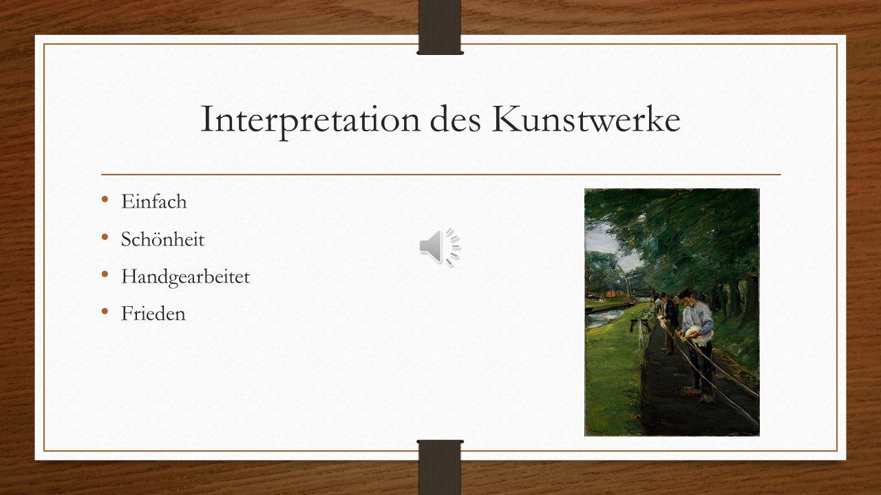 Interpretation des Kunstwerke