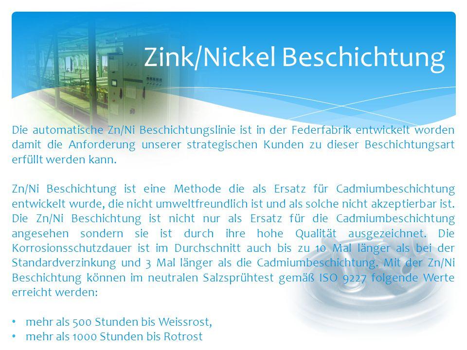 Zink/Nickel Beschichtung