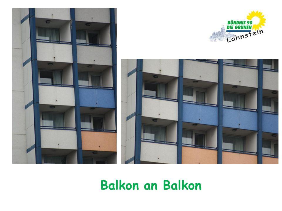 Balkon an Balkon