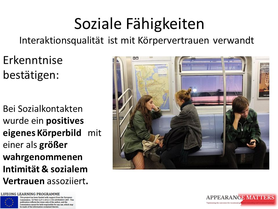 Soziale Fähigkeiten Erkenntnise bestätigen:
