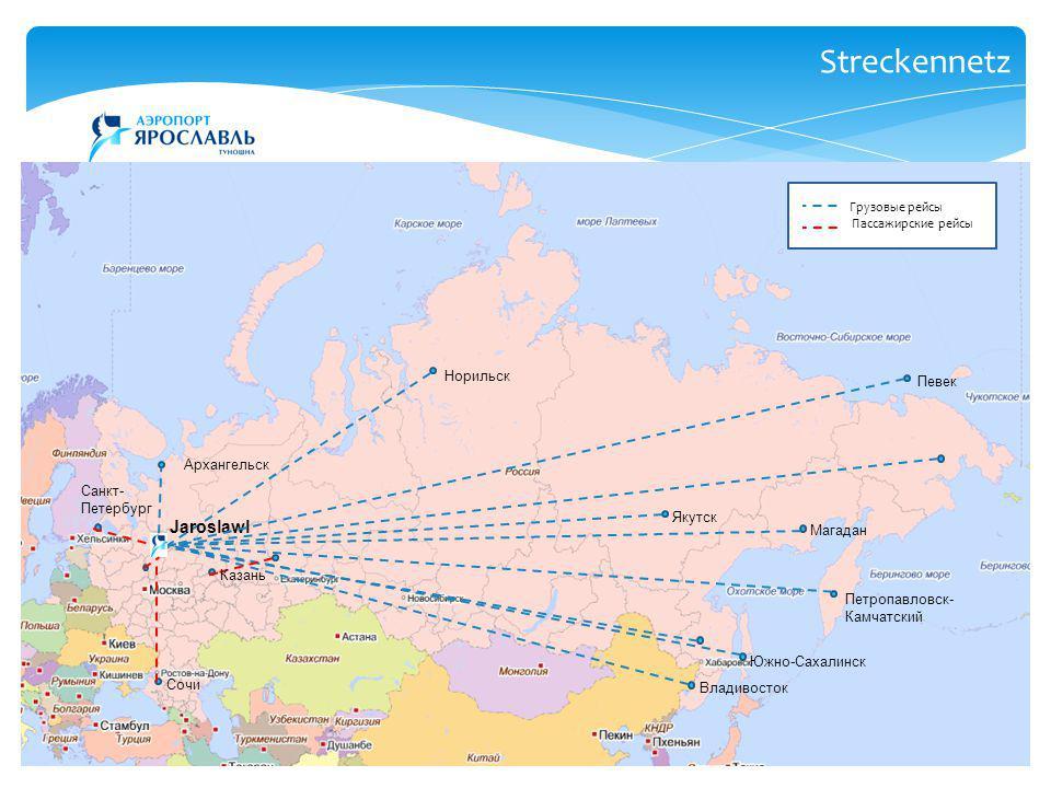 Streckennetz Jaroslawl Норильск Певек Архангельск Санкт-Петербург