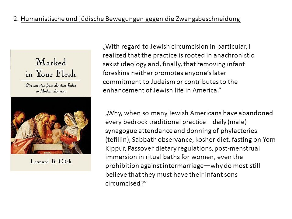 2. Humanistische und jüdische Bewegungen gegen die Zwangsbeschneidung