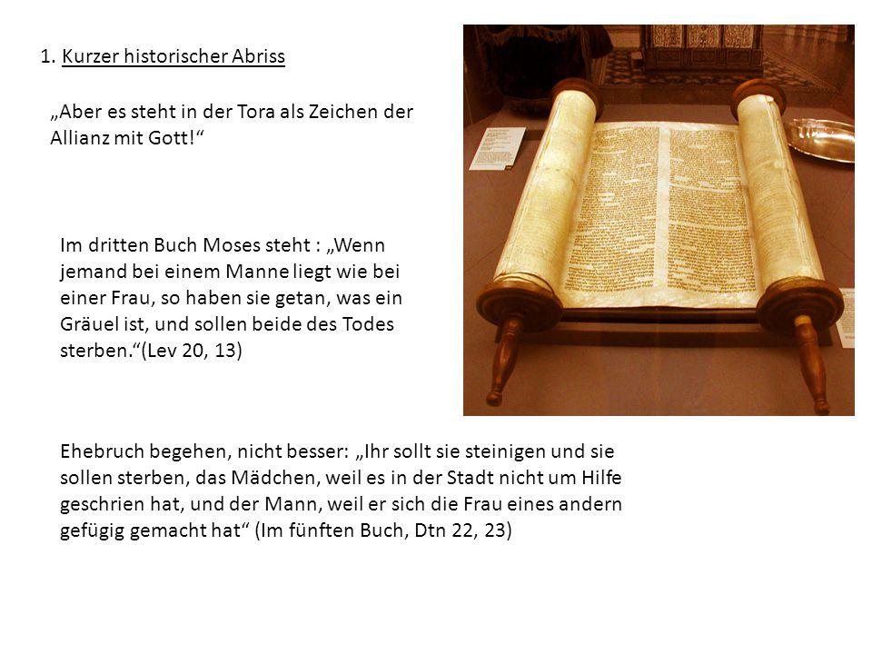 """""""Aber es steht in der Tora als Zeichen der Allianz mit Gott!"""