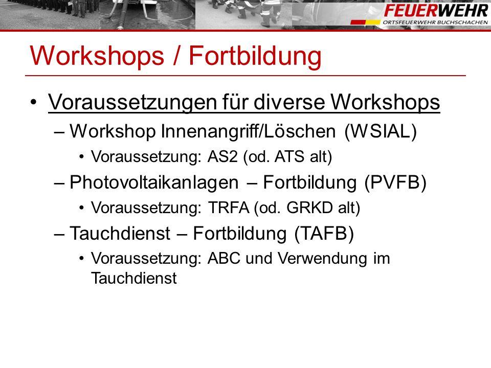 Workshops / Fortbildung