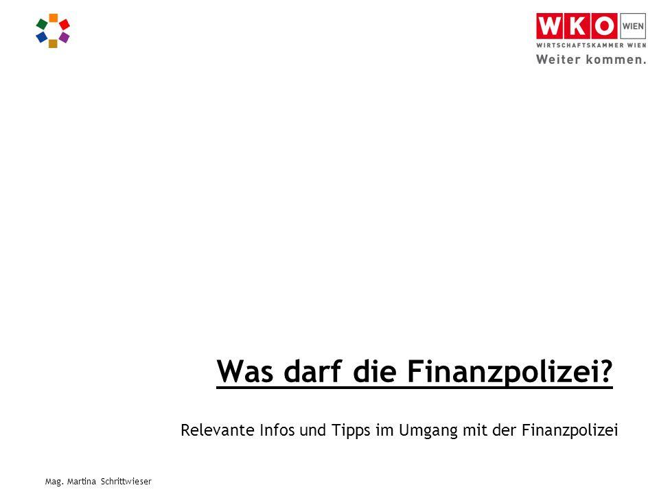 Was darf die Finanzpolizei