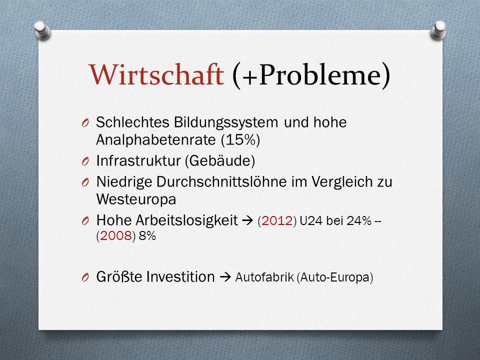 Wirtschaft (+Probleme)