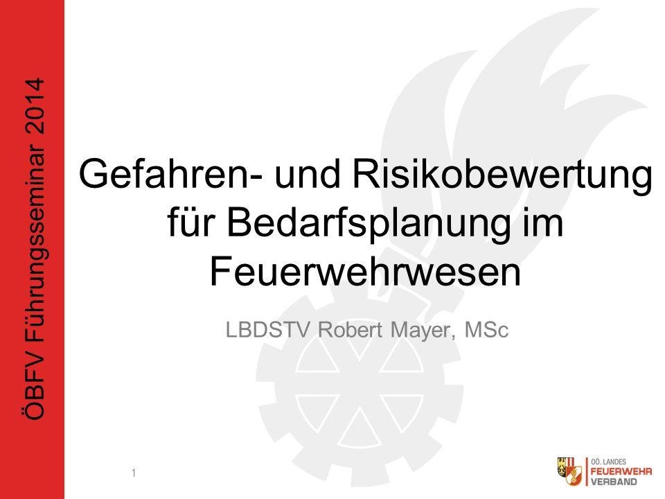 Gefahren- und Risikobewertung für Bedarfsplanung im Feuerwehrwesen