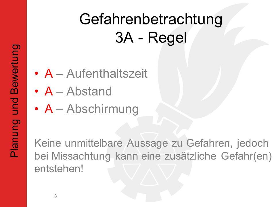 Gefahrenbetrachtung 3A - Regel