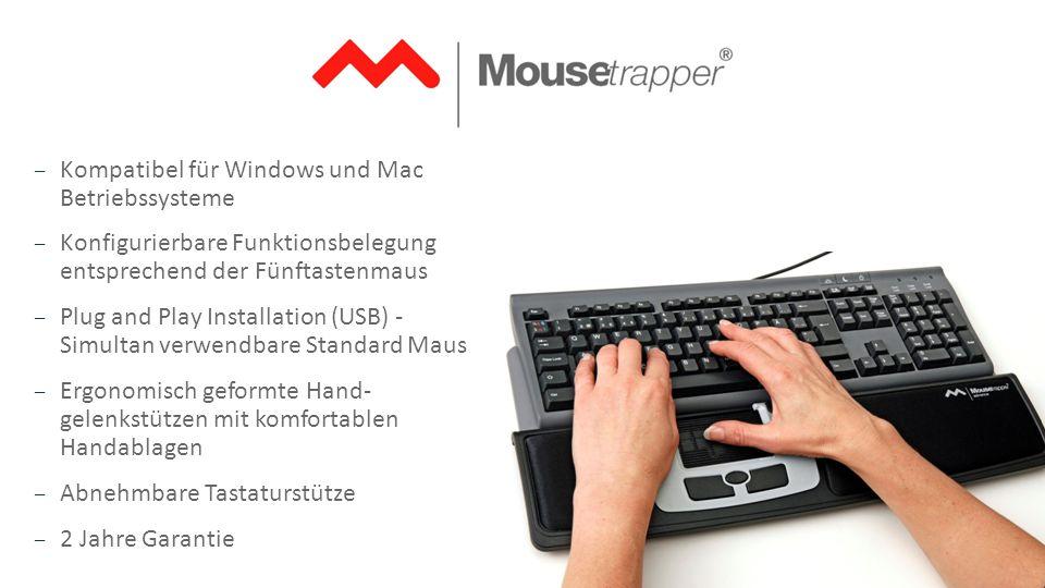 Kompatibel für Windows und Mac Betriebssysteme
