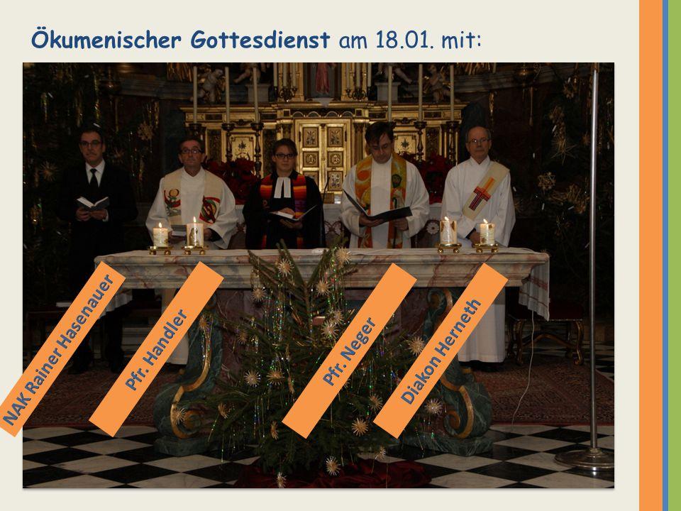 Ökumenischer Gottesdienst am 18.01. mit: