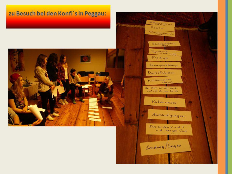 zu Besuch bei den Konfi´s in Peggau: