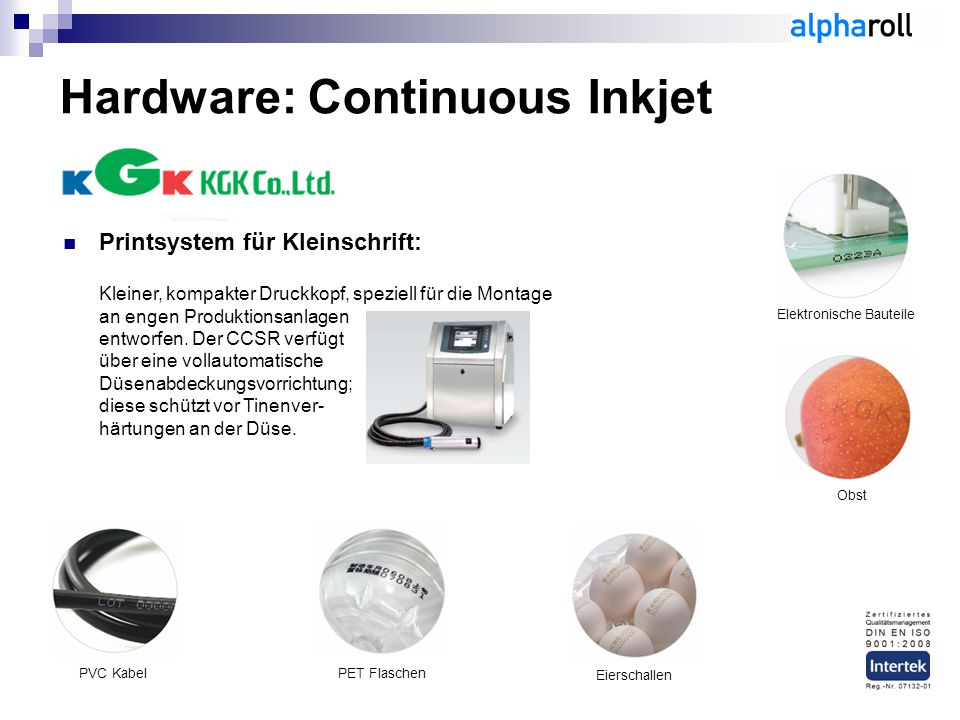 Hardware: Continuous Inkjet