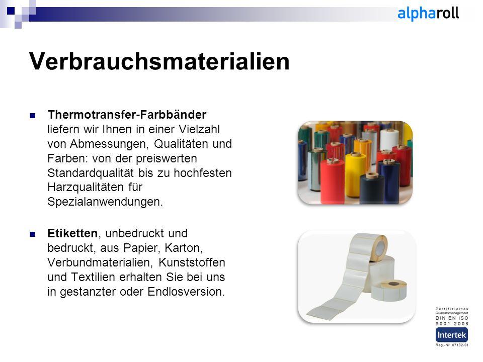 Verbrauchsmaterialien