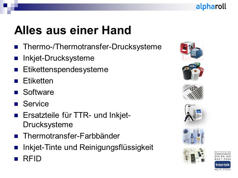 Alles aus einer Hand Thermo-/Thermotransfer-Drucksysteme