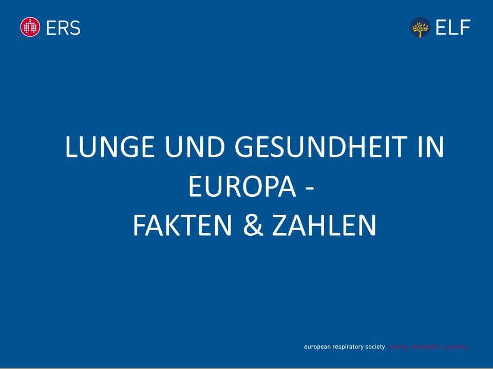 Lunge und Gesundheit in Europa - Fakten & Zahlen