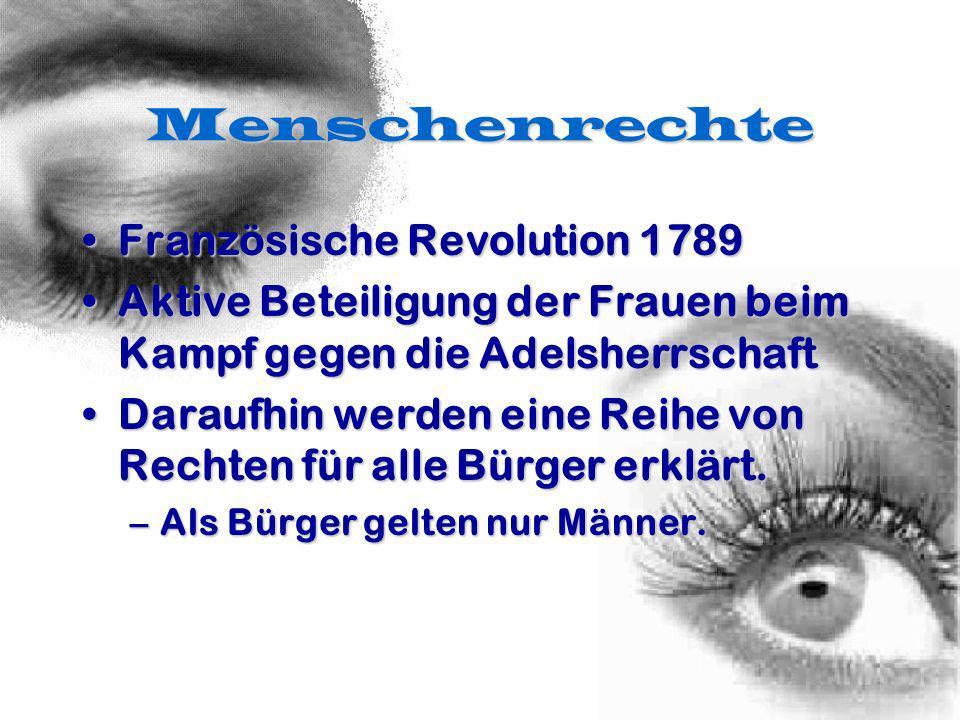 Menschenrechte Französische Revolution 1789