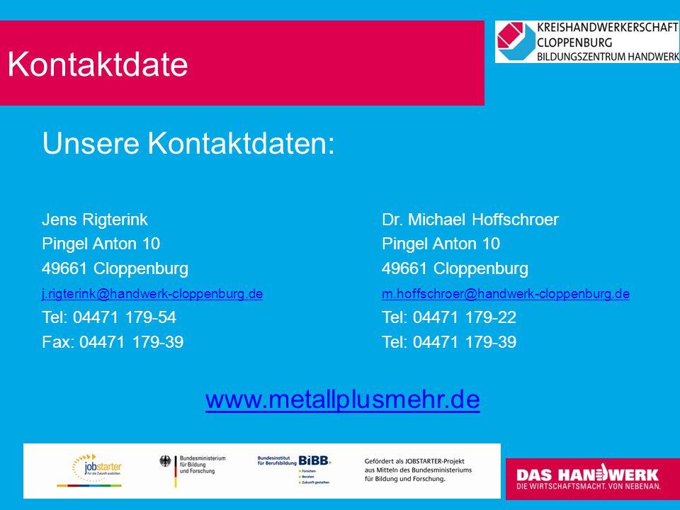 Kontaktdate Unsere Kontaktdaten: www.metallplusmehr.de