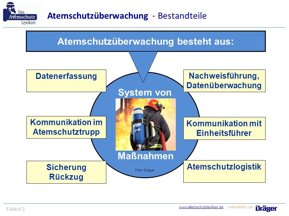 Atemschutzüberwachung besteht aus: System von Maßnahmen