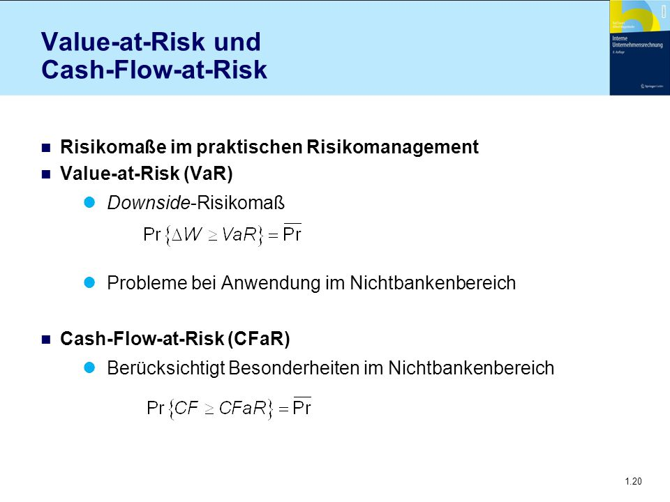 Value-at-Risk und Cash-Flow-at-Risk