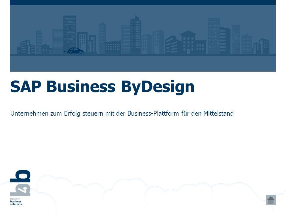 SAP Business ByDesign Unternehmen zum Erfolg steuern mit der Business-Plattform für den Mittelstand