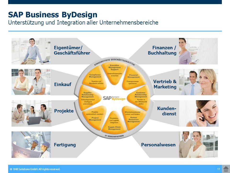 SAP Business ByDesign Unterstützung und Integration aller Unternehmensbereiche