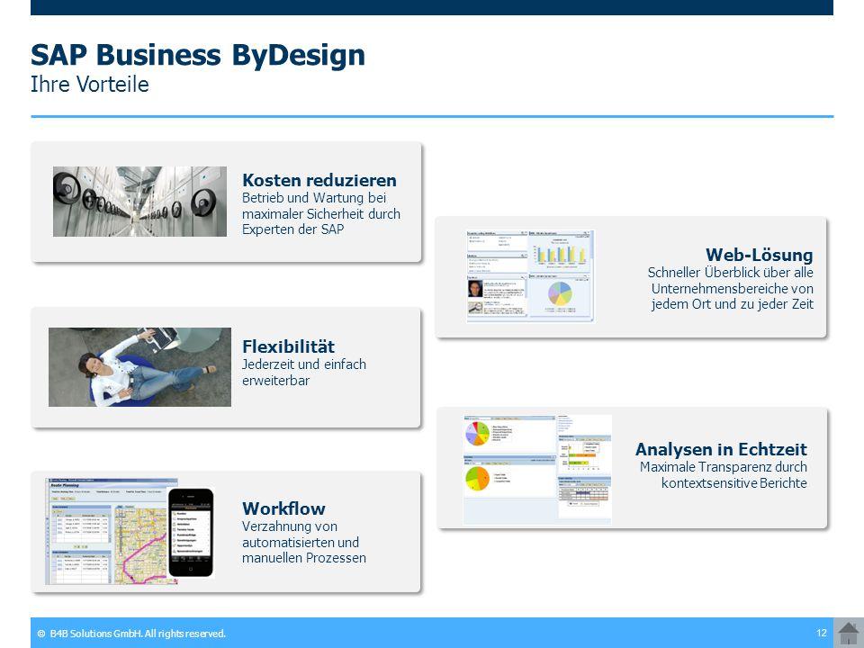 SAP Business ByDesign Ihre Vorteile