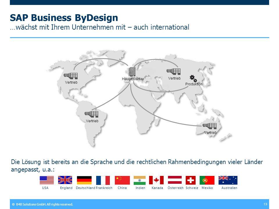 SAP Business ByDesign …wächst mit Ihrem Unternehmen mit – auch international
