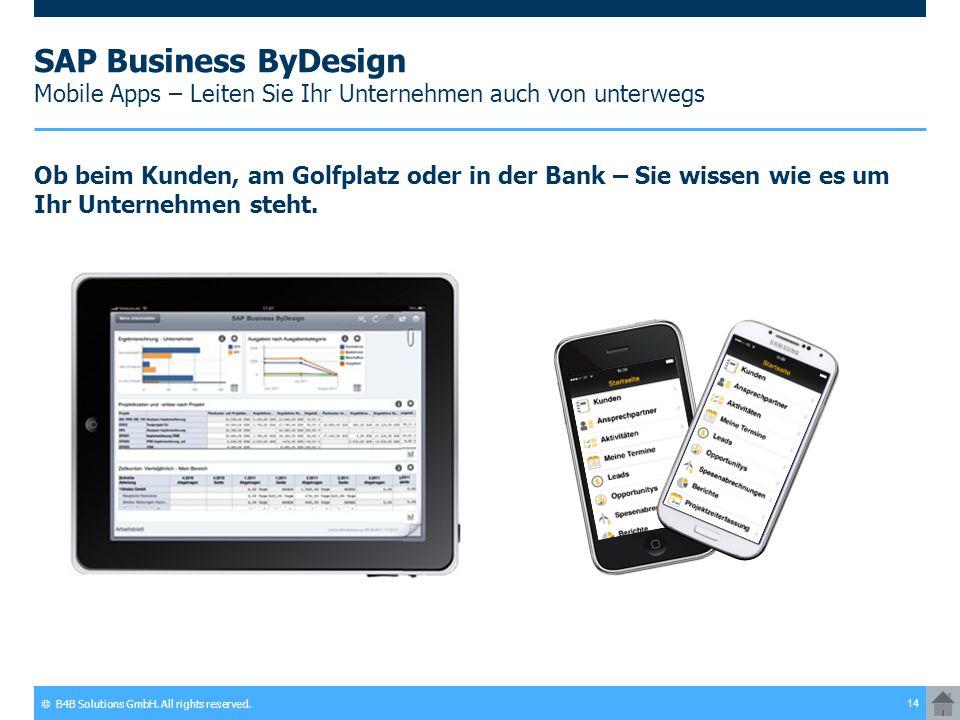SAP Business ByDesign Mobile Apps – Leiten Sie Ihr Unternehmen auch von unterwegs