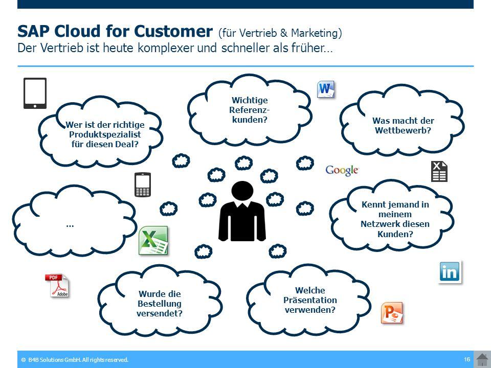 SAP Cloud for Customer (für Vertrieb & Marketing) Der Vertrieb ist heute komplexer und schneller als früher…