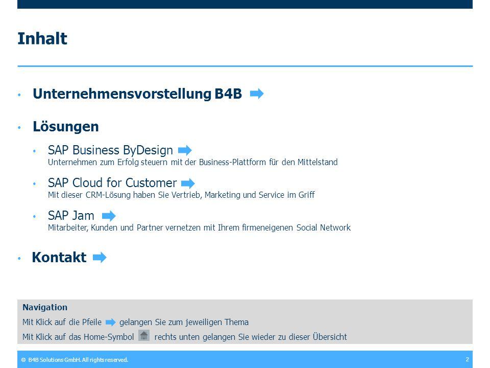 Inhalt Unternehmensvorstellung B4B Lösungen Kontakt