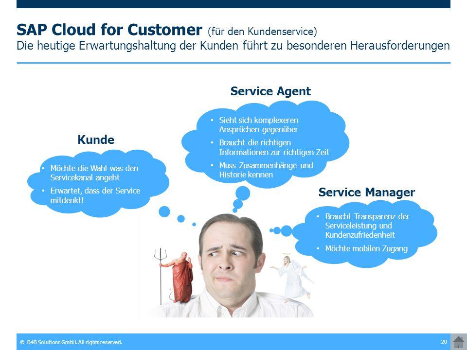 SAP Cloud for Customer (für den Kundenservice) Die heutige Erwartungshaltung der Kunden führt zu besonderen Herausforderungen