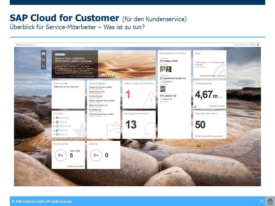 SAP Cloud for Customer (für den Kundenservice) Überblick für Service-Mitarbeiter – Was ist zu tun