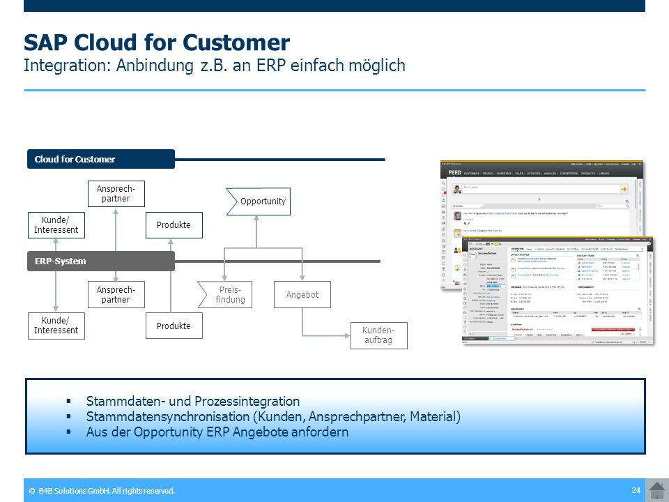 SAP Cloud for Customer Integration: Anbindung z. B