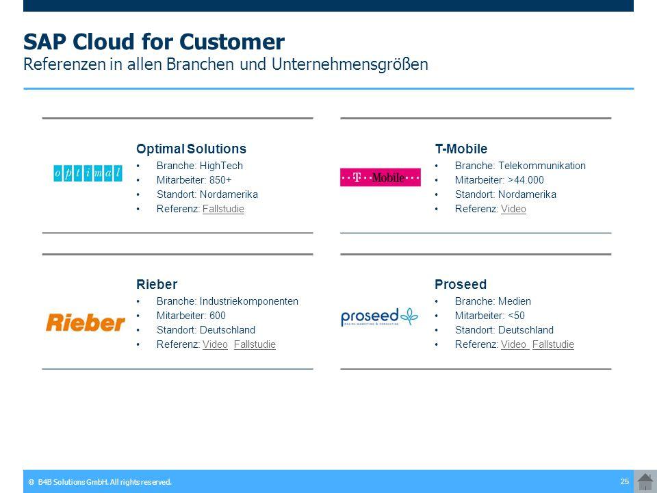 SAP Cloud for Customer Referenzen in allen Branchen und Unternehmensgrößen