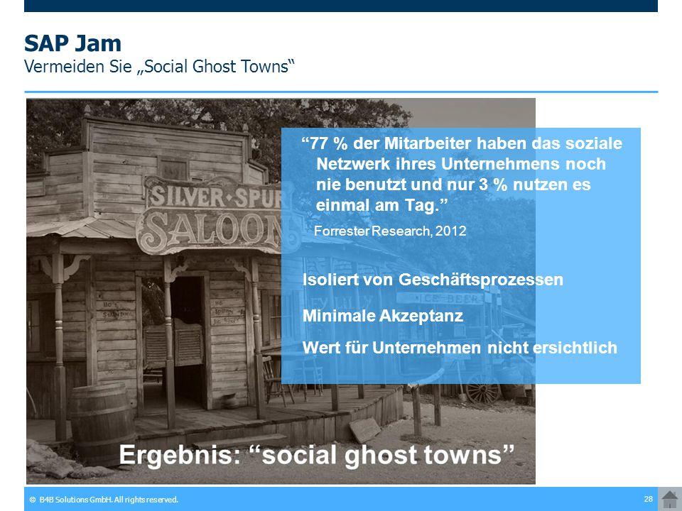 "SAP Jam Vermeiden Sie ""Social Ghost Towns"