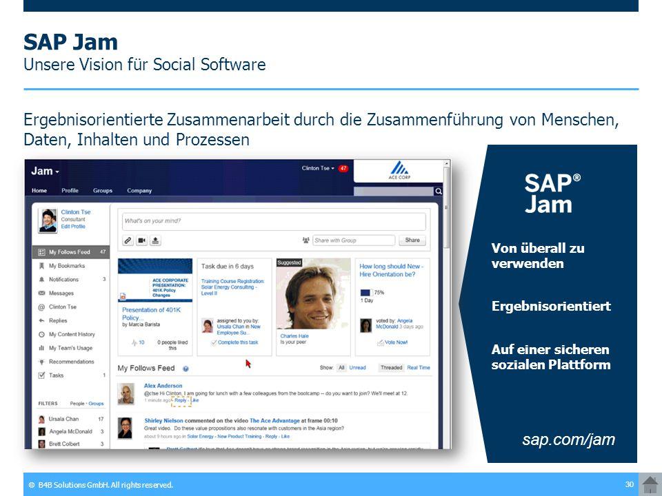 SAP Jam Unsere Vision für Social Software