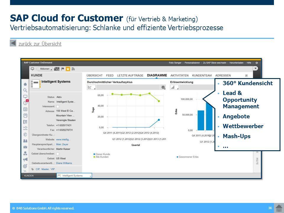 SAP Cloud for Customer (für Vertrieb & Marketing) Vertriebsautomatisierung: Schlanke und effiziente Vertriebsprozesse