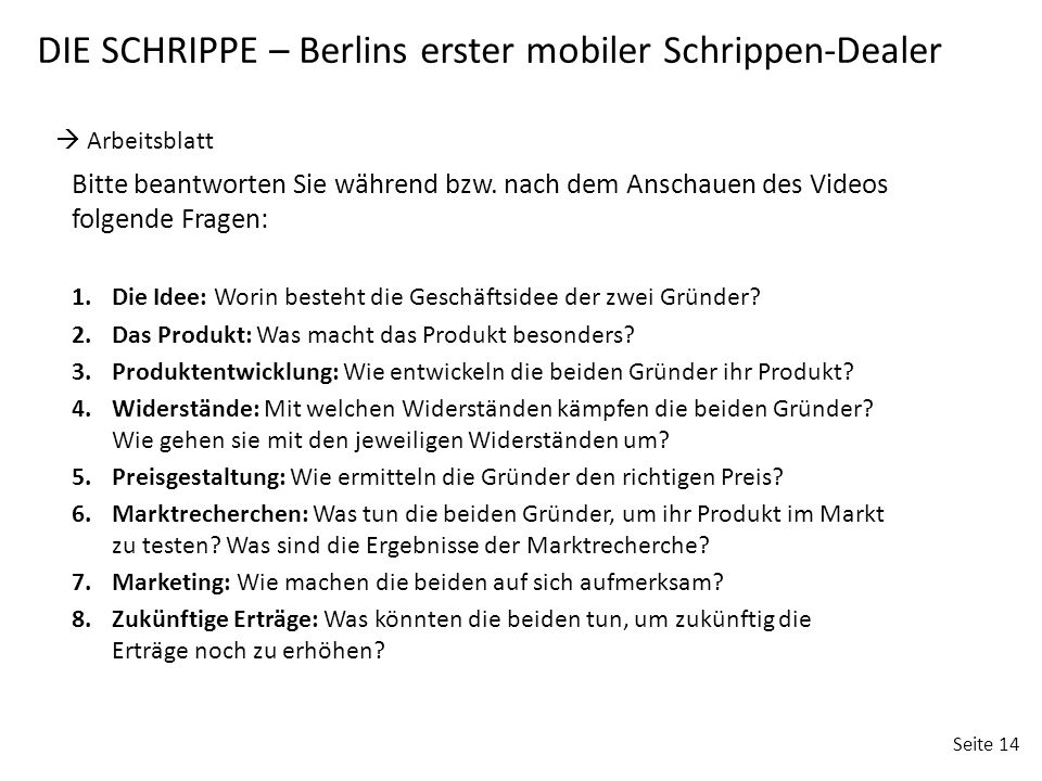 DIE SCHRIPPE – Berlins erster mobiler Schrippen-Dealer