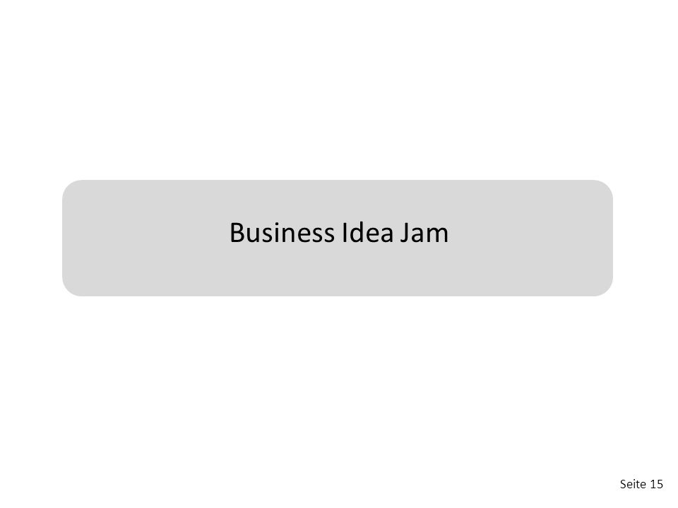 Business Idea Jam